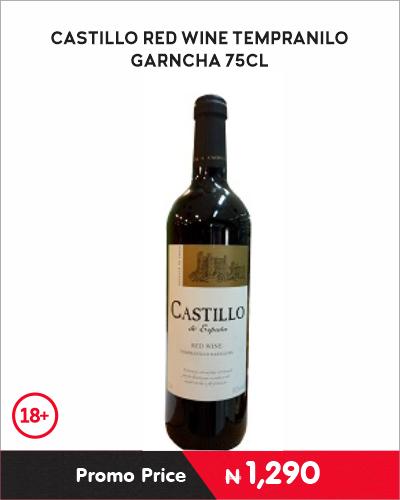 CASTILLO RED WINE TEMPRANILO Garncha 75CL