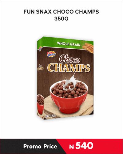 FUN SNAX CHOCO CHAMPS 350G