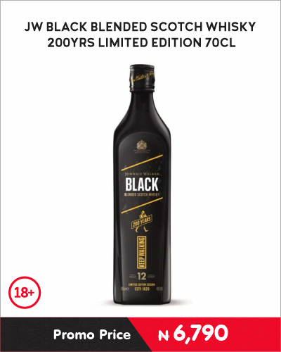 JW BLACK BLENDED SCOTCH WHISKY 200YRS LIMITED EDITION 70CL