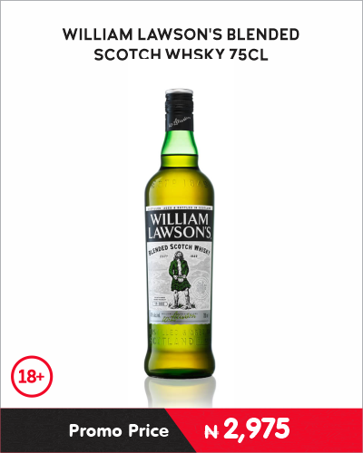 WILLIAM LAWSON\'S BLENDED SCOTCH WHISKY 75CL