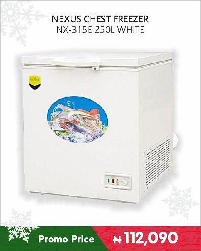 NEXUS CHEST FREEZER NX-315E 250L WHITE