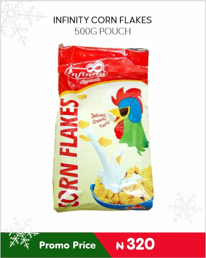 NFINITY CORN FLAKES 500G POUCH