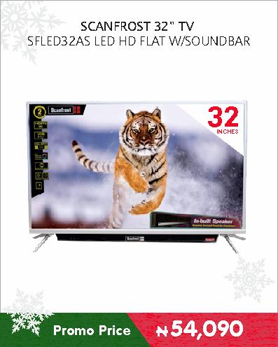 SCANFROST 32 TV SFLED32AS LED HD FLAT W-SOUNDBAR