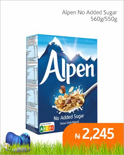 Alpen No Added Sugar 550g