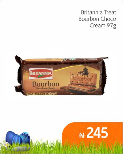 Britannia Treat Bourbon Choco Cream 97g