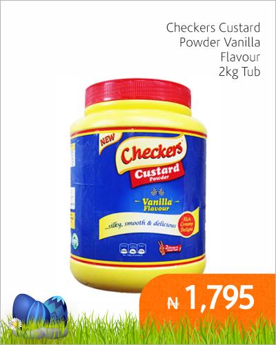 Checkers Custard Powder Vanilla Flavour 2k Tub