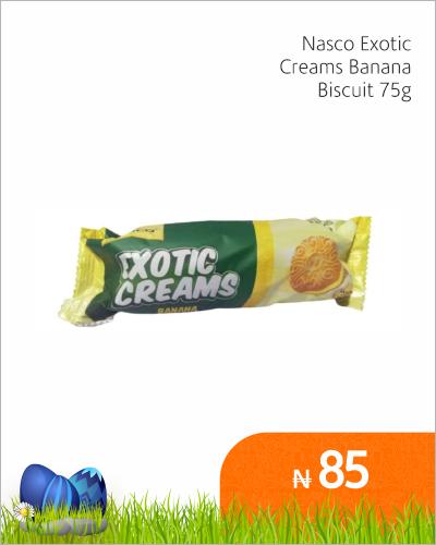 Nasco Exotic Cream Banana Biscuit 75g